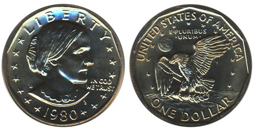 1980 Susan B Anthony Dollar