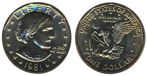 1981 Susan B Anthony Dollar