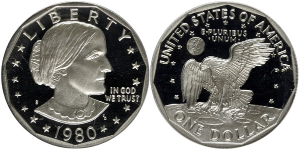 1980-S Proof Susan B. Anthony Dollar
