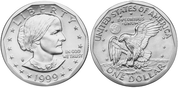 Susan B  Anthony Dollars (1979-1999) | Complete Coin Guide